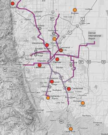 Denver Metro 					Light Rail Connectivity